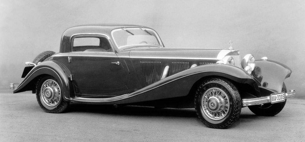 1934 mercedes benz 500k milestones for Mercedes benz sports sedan