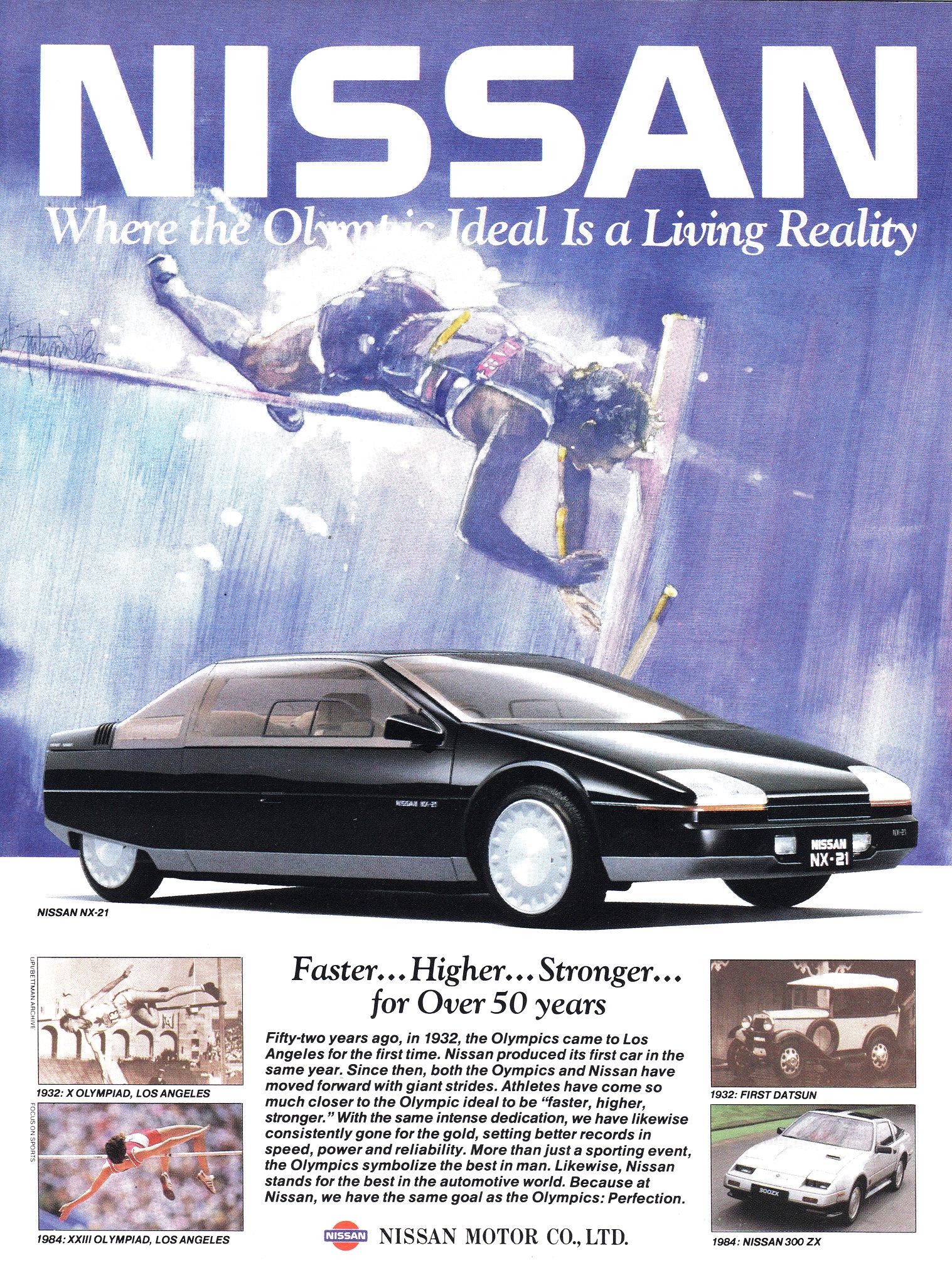 1983 nissan nx 21 concepts nissan nx 21 concept ad 1984 vanachro Gallery