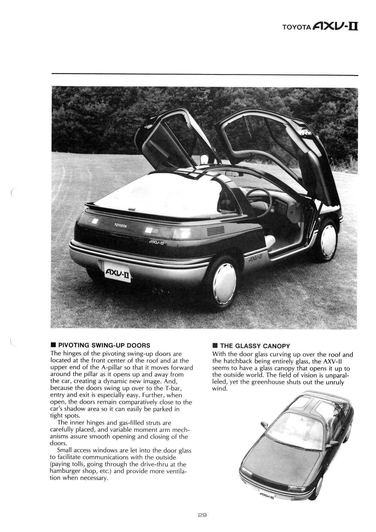 1987 Toyota Axv Ii Concepts