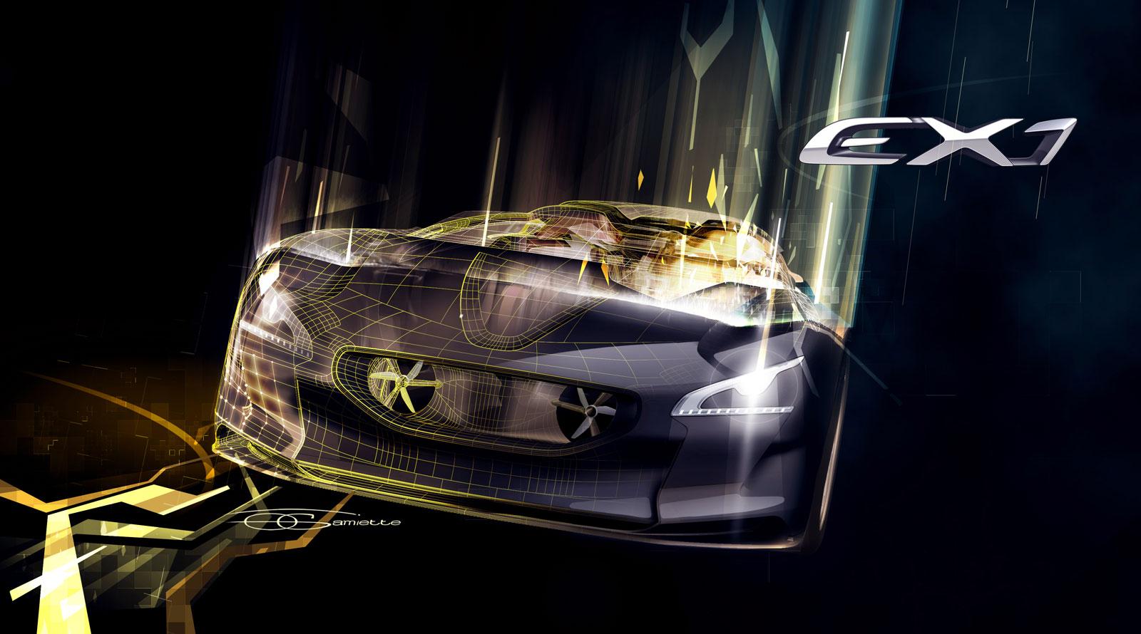 Peugeot EX1 Concept Design Rendering By Olivier Gamiette