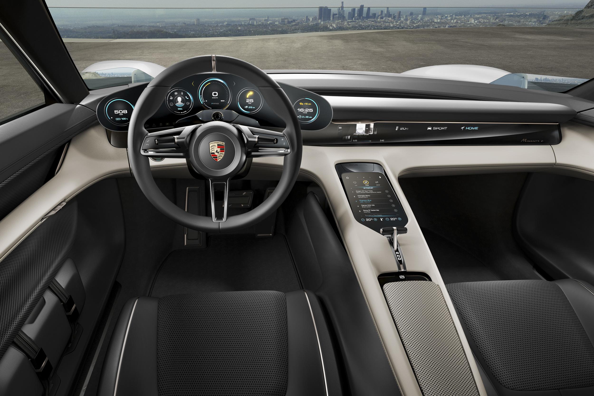 porsche mission e concept 2015 interior - Porsche 2015 Interior