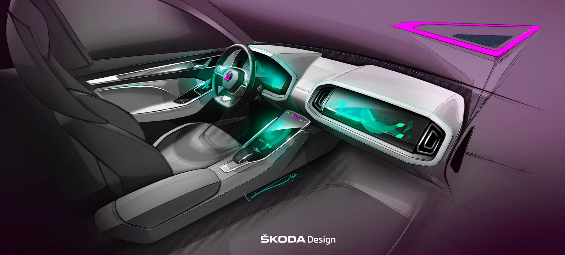 2016 skoda visions concepts for Interior visions designs