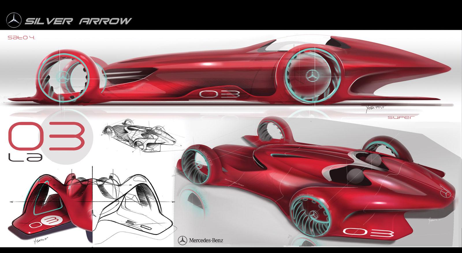 La design challenge 2011 mercedes benz silver arrow for Mercedes benz design
