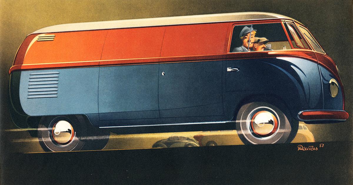 Volkswagen Advertising Art 1951 1960 Bernd Reuters Blog