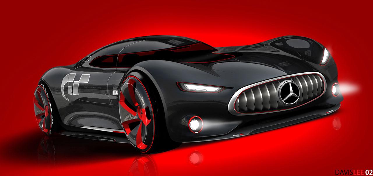 Mercedes Benz AMG Vision Gran Turismo Concept (2013)   Design Sketch By  Davis