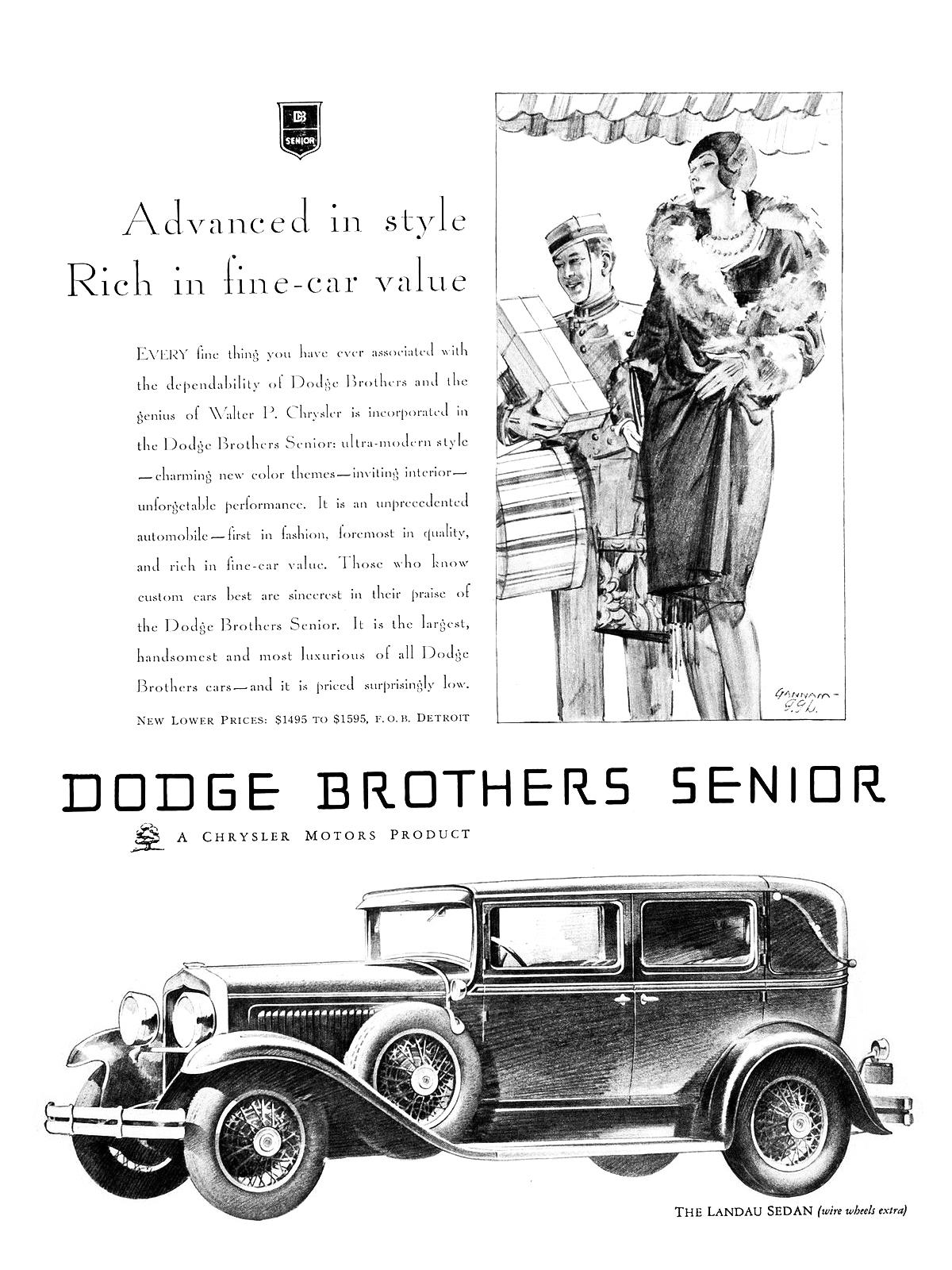 Dodge Brothers Senior Advertising Art by John Gannam (1929) - Blog