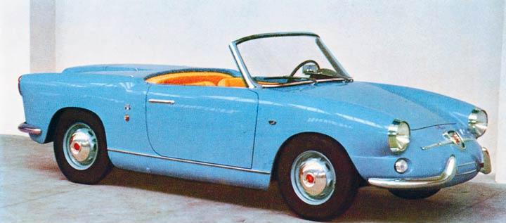 1958 Abarth 750 Spider Allemano Studios