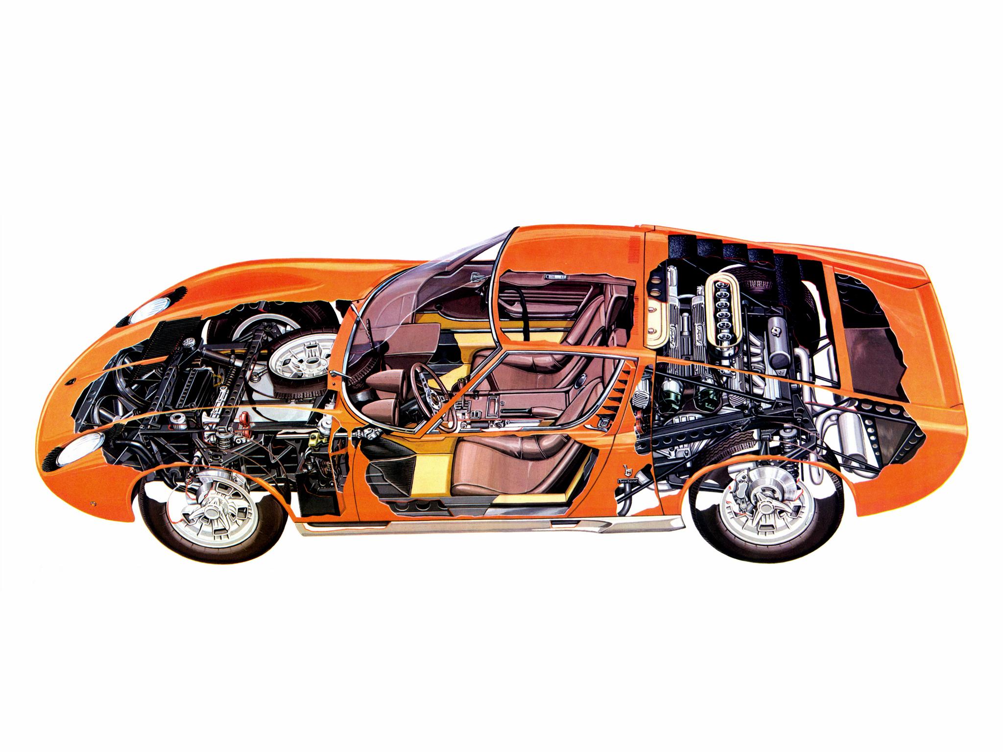 1966 Lamborghini Miura Bertone Студии