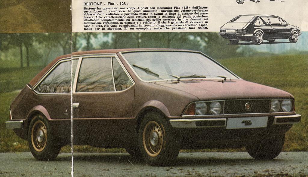 1969 Fiat 128 Coupe Bertone Studios