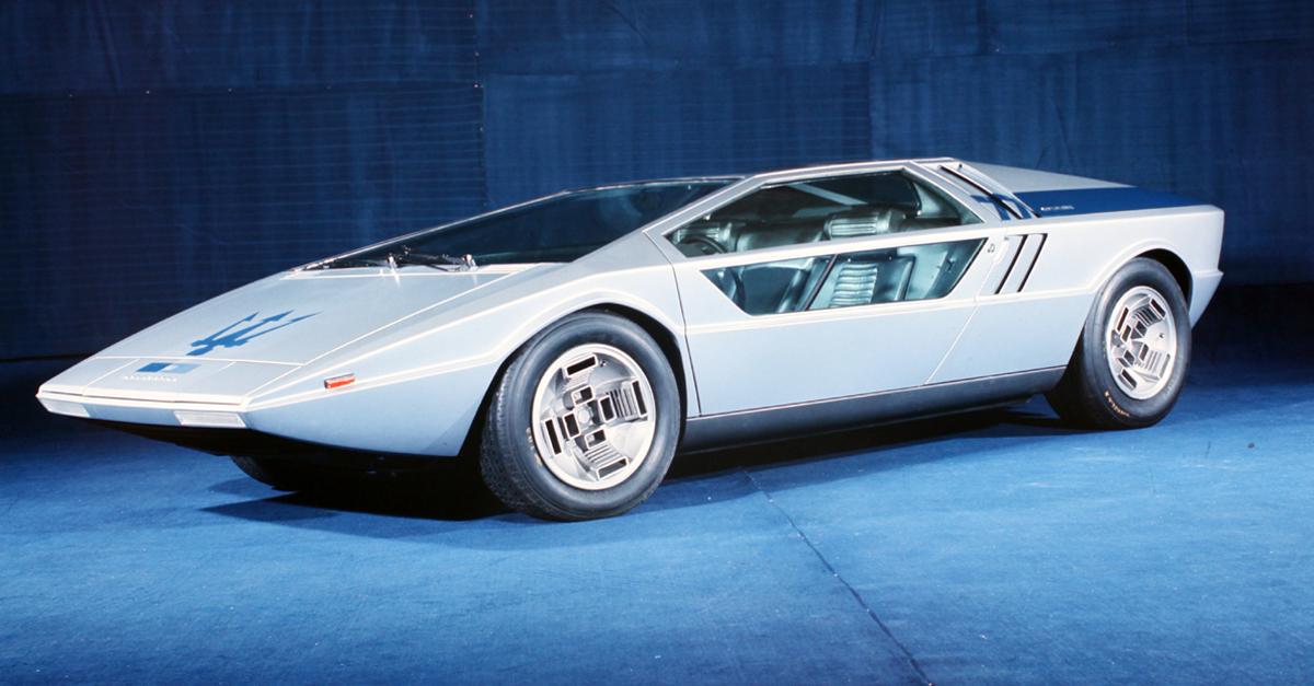 Maserati >> 1972 Maserati Boomerang (ItalDesign) - Studios