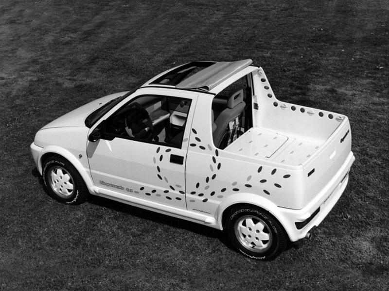 1992 fiat cinquecento pick up pininfarina studios. Black Bedroom Furniture Sets. Home Design Ideas