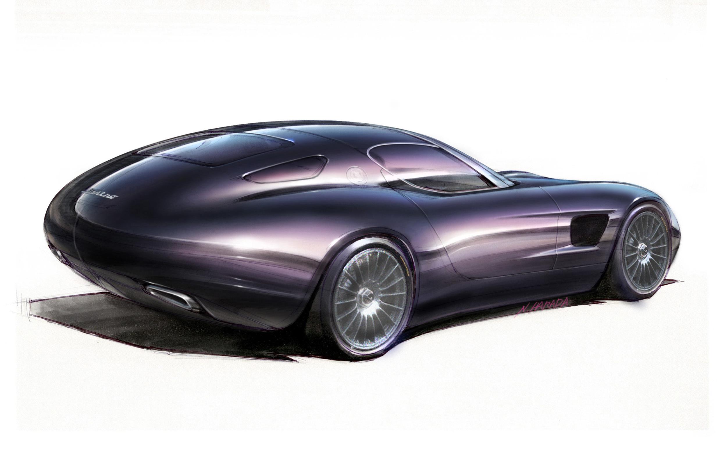Zagato Maserati Mostro Design Sketch
